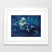 Rampant Oceanids Framed Art Print