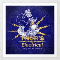 Thor - Thor's Electrical Art Print