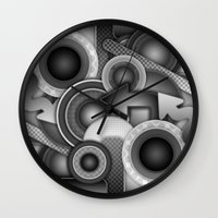 Monochrome Mayhem  Wall Clock