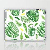 Palm Leaf Pattern Laptop & iPad Skin