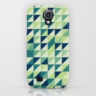Blue And Green Geometric… Galaxy S4 Slim Case