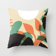 Jungle Sun #1 Throw Pillow