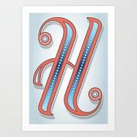 Letter H Art Print