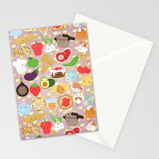 Cute food Stationery Cards