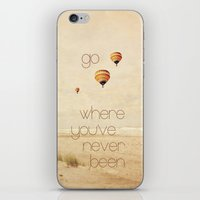 go where you've never been iPhone & iPod Skin