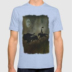 Night Hunter Mens Fitted Tee Athletic Blue SMALL