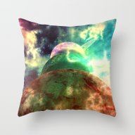Throw Pillow featuring Meanwhile, Somewhere In … by Octavia Soldani