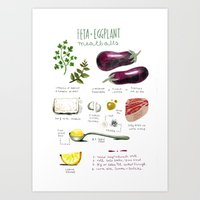 Illustrated Recipes: Fet… Art Print