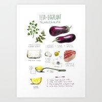 Illustrated Recipes: Fet… Art Print