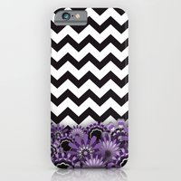 Purple Flower Chevron iPhone 6 Slim Case
