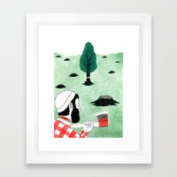 Man & Nature - The Double-Edged Relationship Framed Art Print