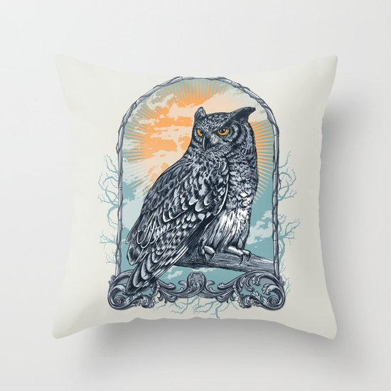 Twilight Owl Throw Pillow
