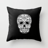 Mexican Skull - Black Ed… Throw Pillow