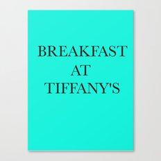 Breakfast at.. Canvas Print