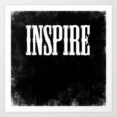 Inspire - a Chalkboard Message Art Print