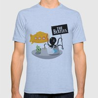 Yellow Submarine Mens Fitted Tee Athletic Blue SMALL