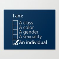 I Am An Individual. Canvas Print