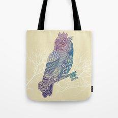 Owl King Color Tote Bag