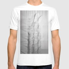 Bunny Girl Glitch Mens Fitted Tee SMALL White