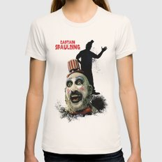 Captain Spaulding: Monster Madness Series Womens Fitted Tee Natural SMALL