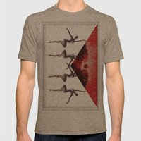 envelope bloody ballet Mens Fitted Tee Tri-Coffee SMALL