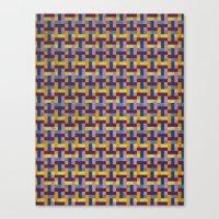 Woven Pixels V Canvas Print