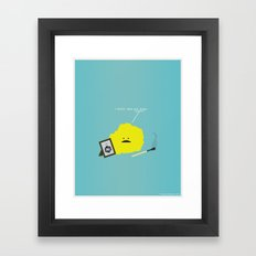 I Sulfur When You Argon Framed Art Print