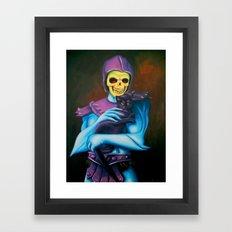 Skeletor Holding A Cat Framed Art Print