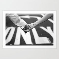 Hand In Hand | Love | Engagement Art Print