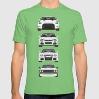 SKYLINE GT-R Mens Fitted Tee Grass SMALL