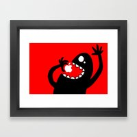 apple eater Framed Art Print