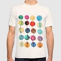 Planets Mens Fitted Tee Natural SMALL