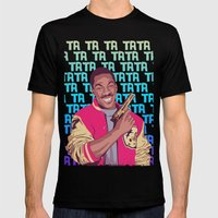 Beverly Hills Cop + music theme Mens Fitted Tee Black SMALL