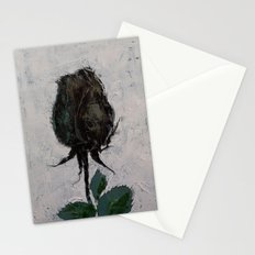 Black Rosebud Stationery Cards