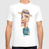 Ronald Harrington / Acry… Mens Fitted Tee White SMALL