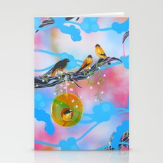 Society Finches Stationery Cards