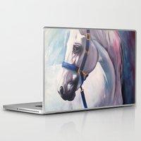 horse Laptop & iPad Skins featuring Horse by Slaveika Aladjova