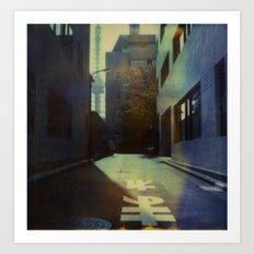 Tokyo Lane Polaroid Art Print