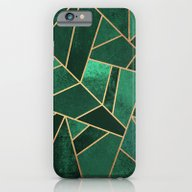 iPhone & iPod Case featuring Emerald And Copper by Elisabeth Fredriksso…