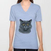 British shorthair cat  G120 Unisex V-Neck