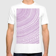 Pink Pulse o2. SMALL White Mens Fitted Tee