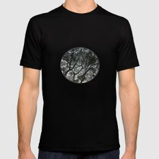 Under the trees II Mens Fitted Tee Black SMALL
