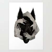dog Art Prints featuring Wild Dog by Corinne Reid