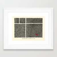 An Aerial View of a Waste of Time Framed Art Print