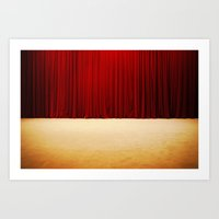 Theater Stage Curtains Art Print