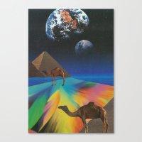 Under The Pyramids Canvas Print