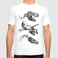 Jurassic Bloom. Mens Fitted Tee White SMALL