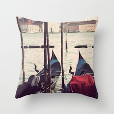 Italian Boat Dock Throw Pillow