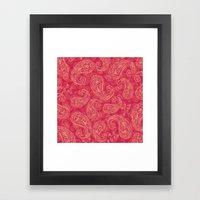 Crazy Paisley Framed Art Print