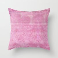 Romantic pink painting Throw Pillow